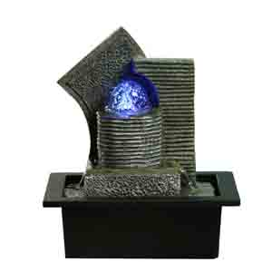 Artifacts-Hand Sculpted Water Fountain with Light