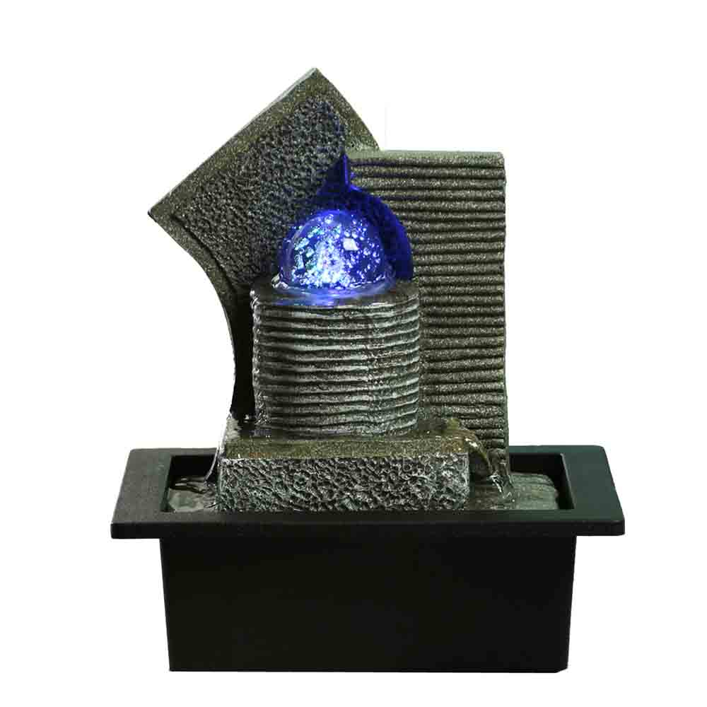 Hand Sculpted Water Fountain with Light
