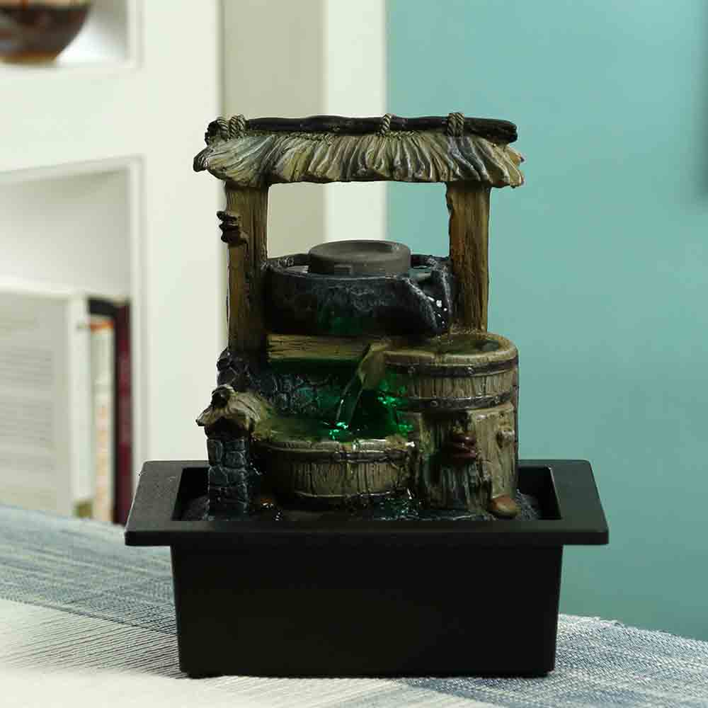 Artifacts-Traditional Design Indoor Water Fountain with Light