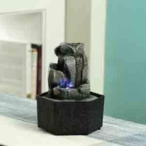 Artifacts-Hand Sculpted Indoor Water Fountain with Light