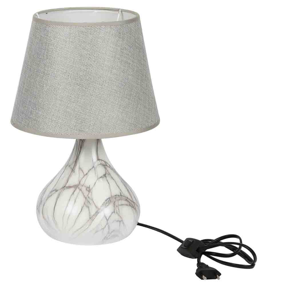 Lamps-Marble Finish Bottle Style Ceramic Table Lamp