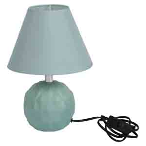 Lamps-Round Ceramic Green Colour Table Lamp