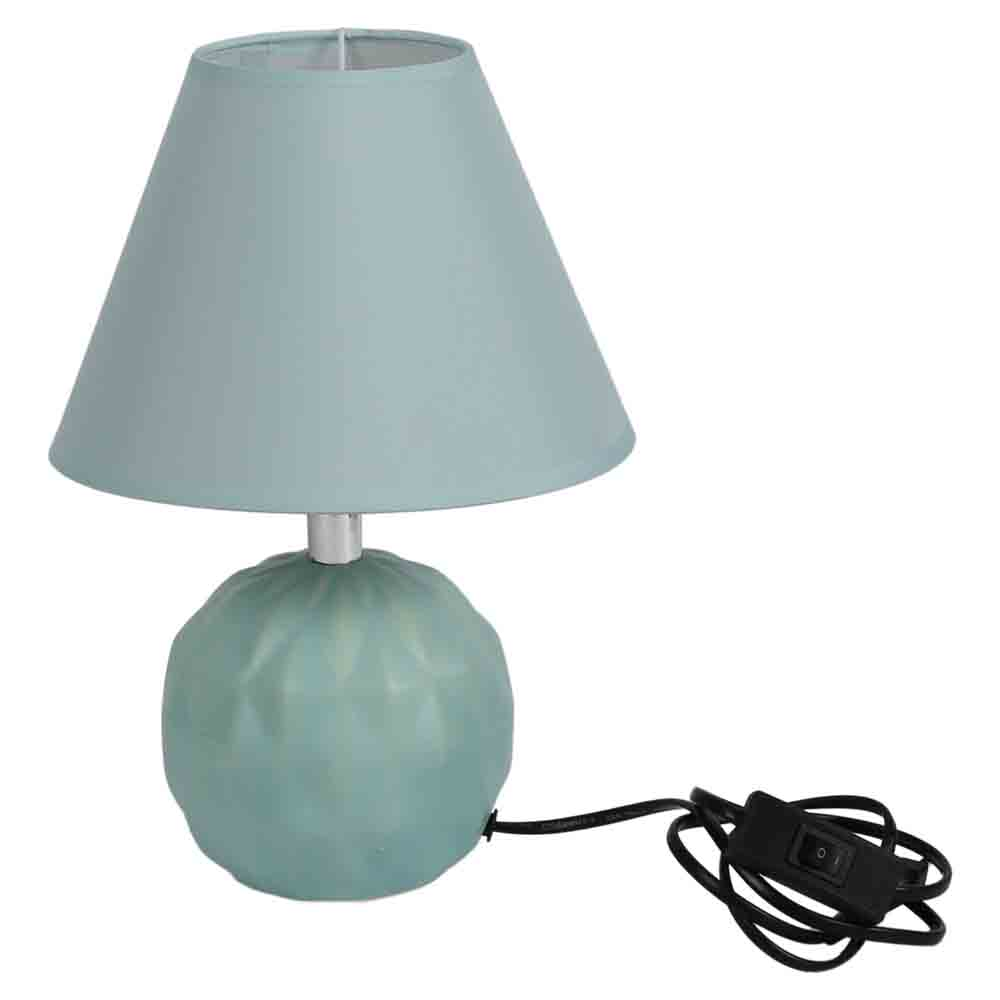 Round Ceramic Green Colour Table Lamp