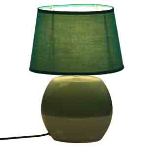 Lamps-Dual Tone Blue Ceramic Table lamp with Matching shade