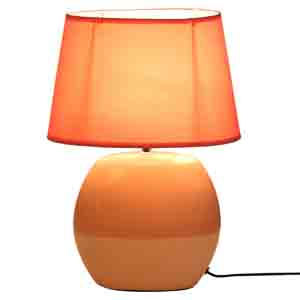 Lamps-Dual Tone Pink Ceramic Table lamp with Matching shade