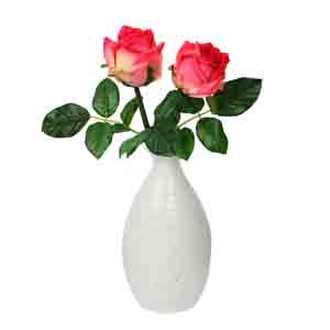 Vases-Handcrafted White Ceramic Beautiful Flower Vase