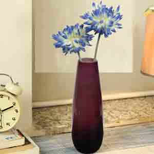 Vases-Dual Shaded Wine Colour Handcrfated Crystal Glass Table Vase