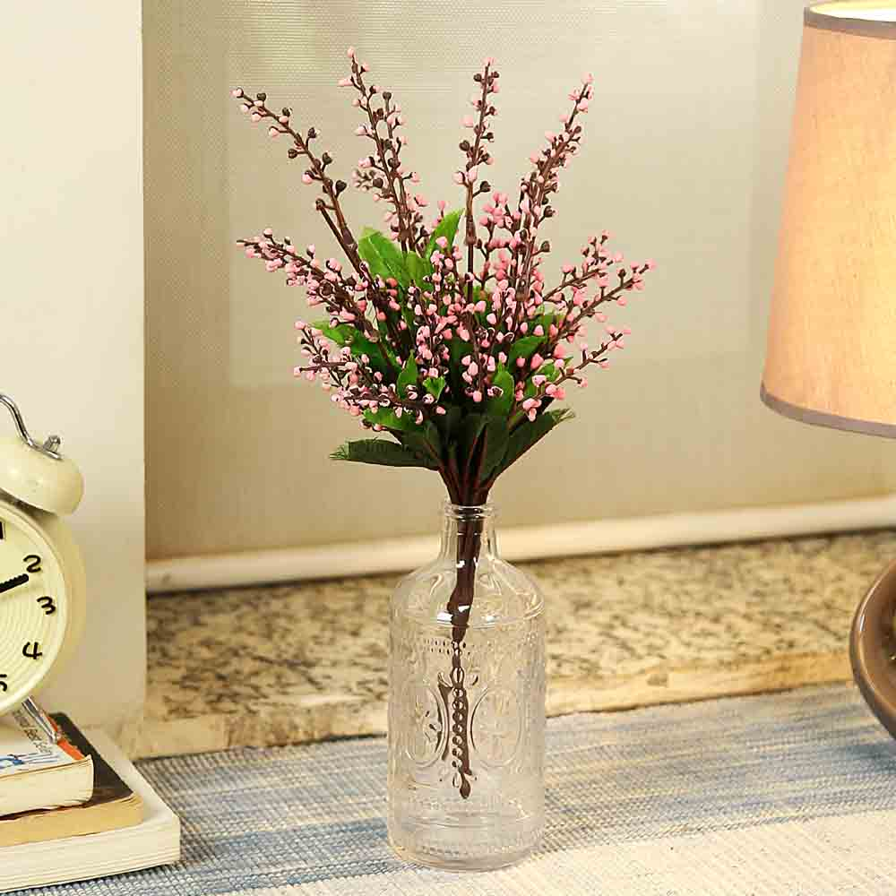 Solid Crystal Glass Bottle Shaped Transparent Vase