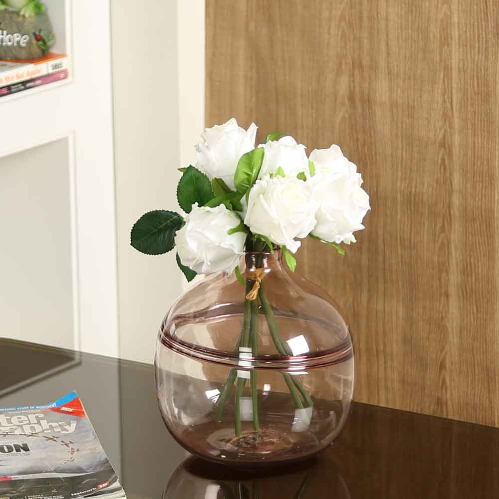White Plastic Artificial Flowers - Set of 1