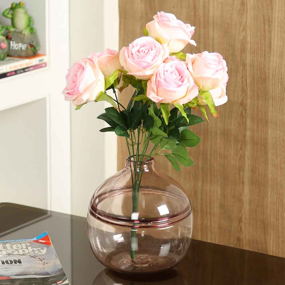 Pink Plastic Artificial Flowers - Set of 1