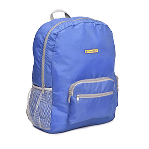 Travel Accessories-Travel Blue Foldable Backpack