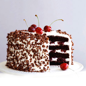 Black Forest Eggless 1kg Cake