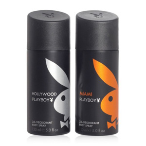 Deodorants & Antiperspirants-Playboy Pack of 2 Deos for Men - Miami & Hollywood