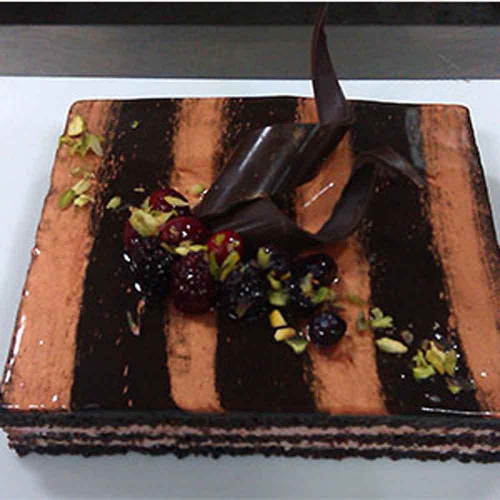 Choco Orange Square Cake - Bangalore Special