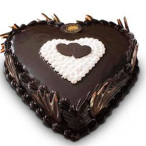 Pune Special-Chocolate Heart Cake - Pune Special