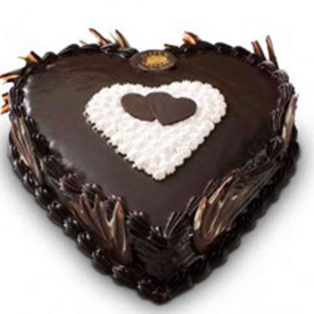 Chocolate Heart Cake - Pune Special