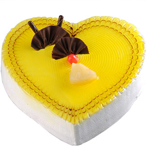 Hyderabad-Pineapple Heart Cake
