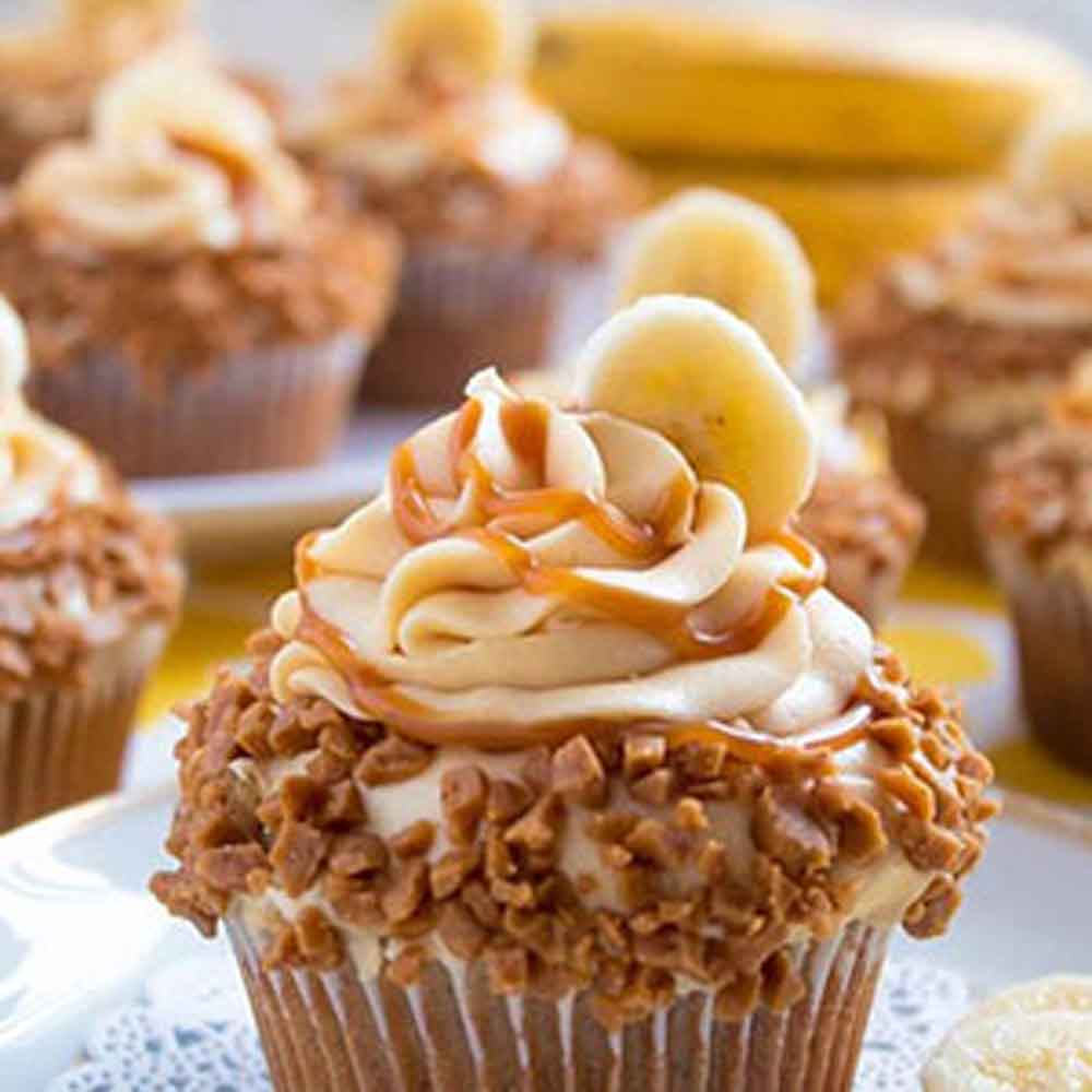 Banana Caramel Cup Cakes - Hyderabad Special