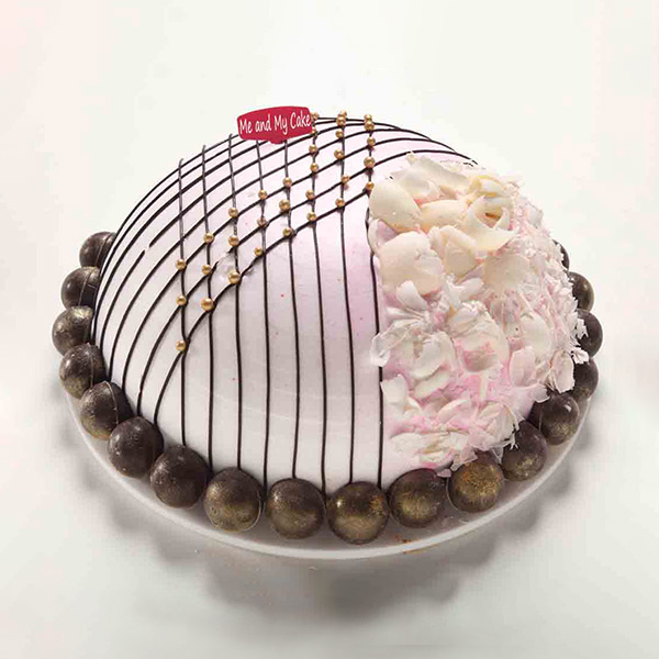 Bangalore Special-Strawberry Chocolate Igloo Cake - Bangalore Special