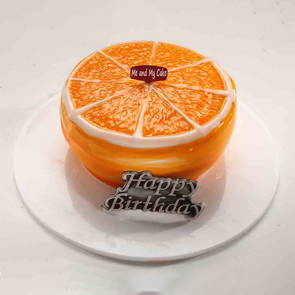 Orange Pulpy Round Cake - Bangalore Special