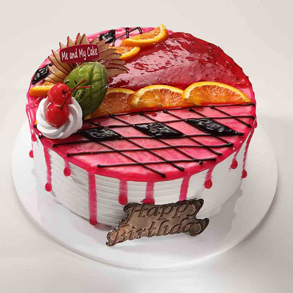 Bangalore Special-Strawberry Fruity Drip Cake - Bangalore Special