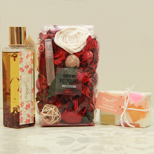 Beauty & Spa Hampers-Spa essentials with Potporri pack
