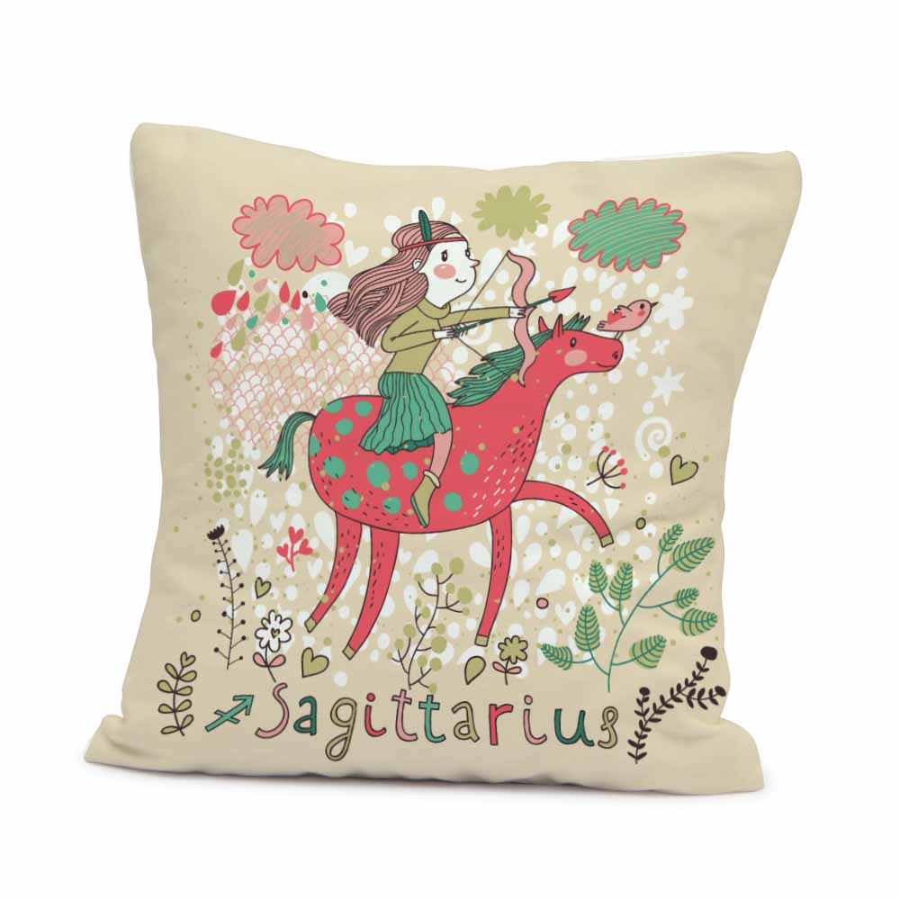 Pillow & Cushion Cover-Artistic Sagittarius Cushion