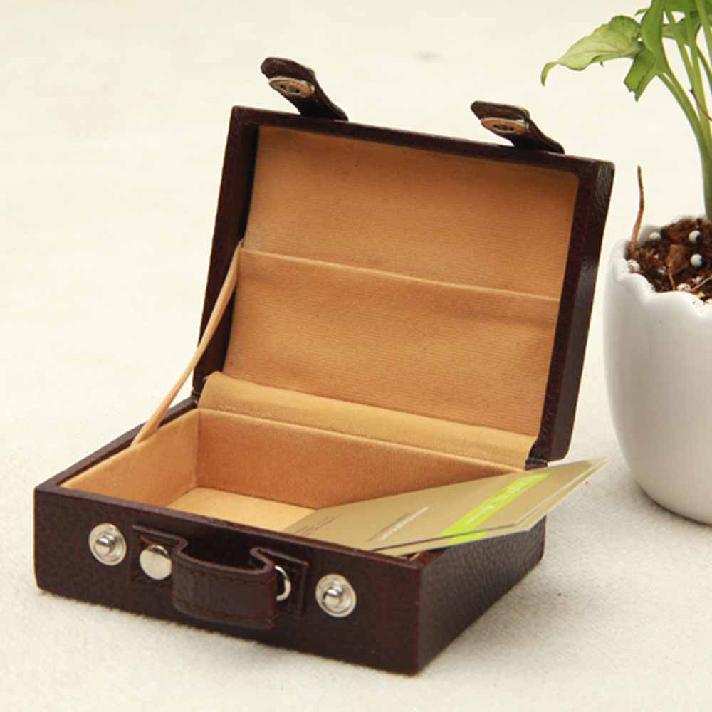 Office Bags-Brown visiting cards case (briefcase)