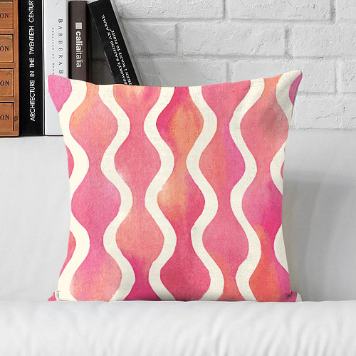 Pillow & Cushion Cover-Printed cushion cover with filler Patterned Zigzag