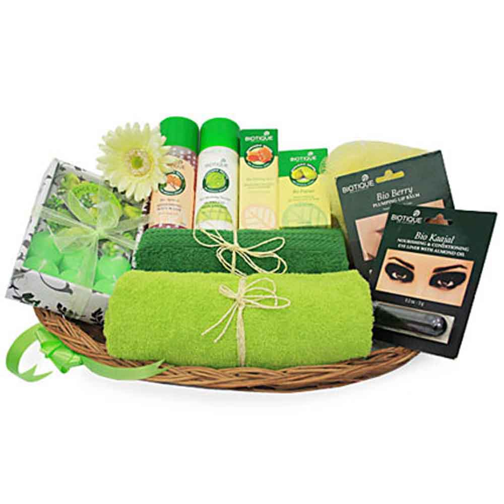 Beauty & Spa Hampers-Mothers Day Green Spa Hamper
