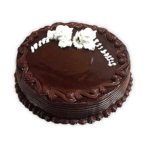 Delhi & NCR Special-Truffle Chocolate Eggless 1 Kg Cake