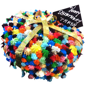 Colorful Celebrations Cake - Indore Special