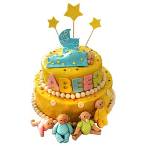 Baby Boy Shower Delight Cake - Delhi Special
