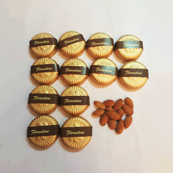 Almond Florentines made in Belgian Chocolate 36pcs