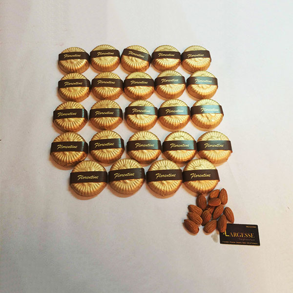 Almond Florentines made in Belgian Chocolate 24pcs
