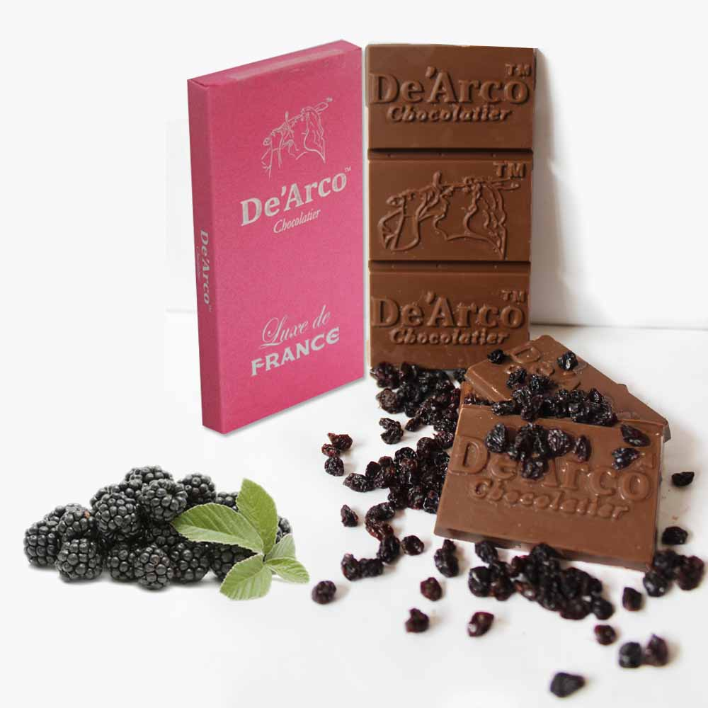 De'Arco Chocolatier 30% Cocoa Tangy Blackcurrent 80 g