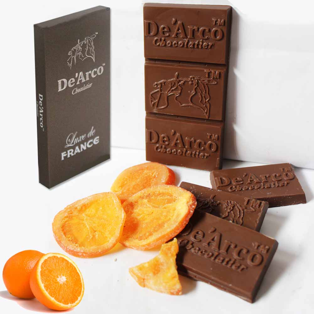 De'Arco Chocolatier 50% Cocoa Citrus Orange 80 g