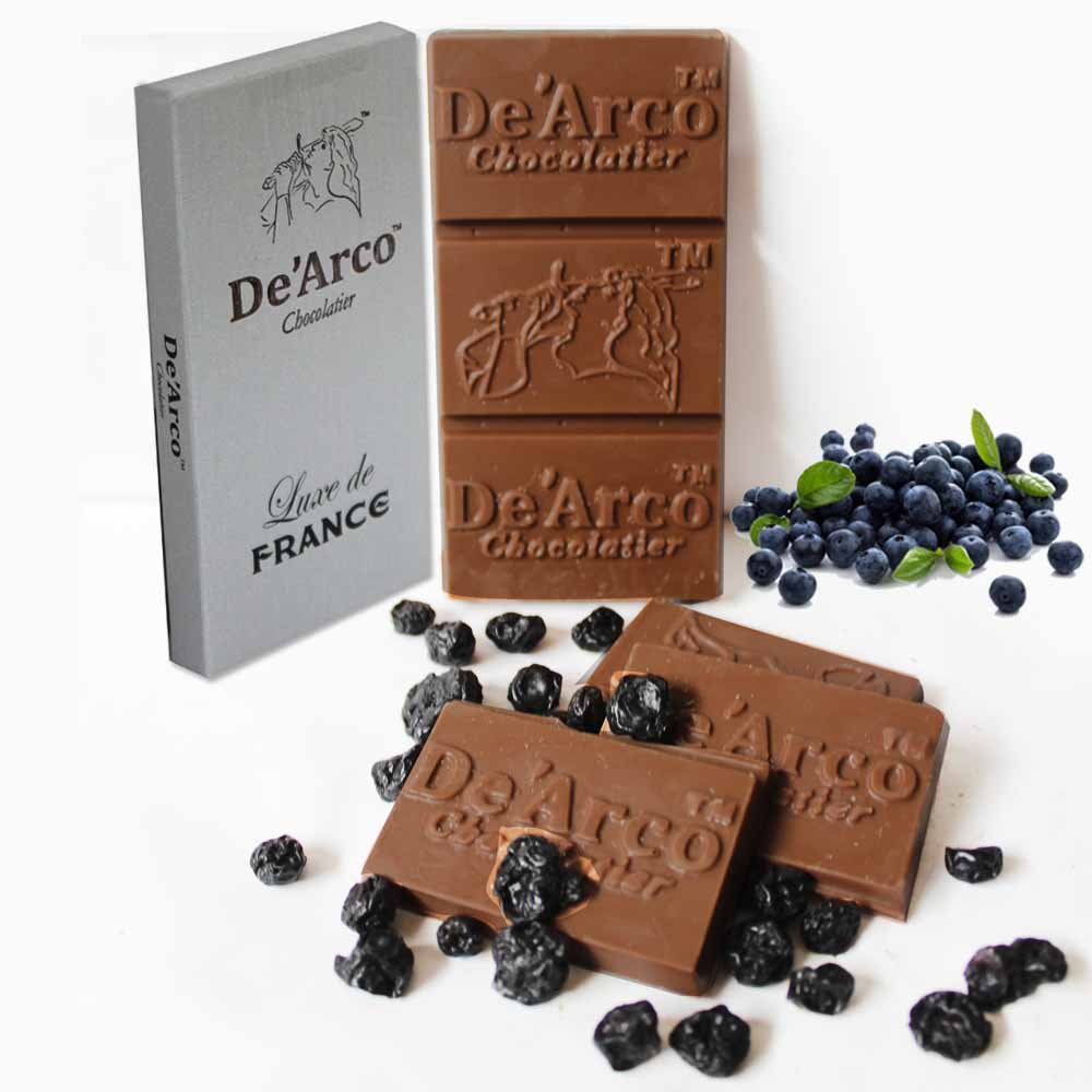 De'Arco Chocolatier 60% Cocoa Blueberry Surprise 80 g