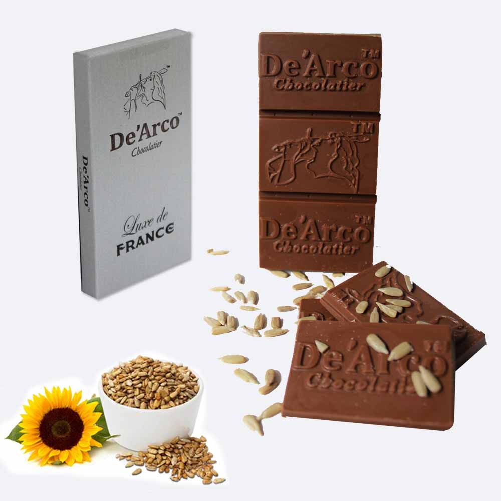 De'Arco Chocolatier 70% Cocoa Sunflower Feast 80 g