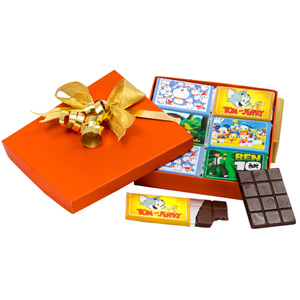 Velvet Fine Chocolates-Velvet Fine Chocolates' Cartoon Chocolate Bar Box