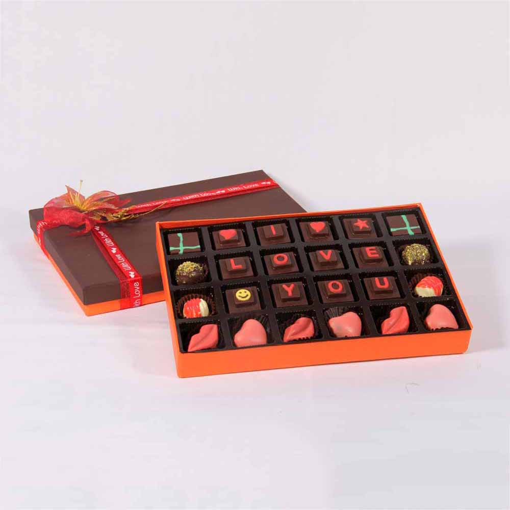 Velvet Fine Chocolates' I love you Box