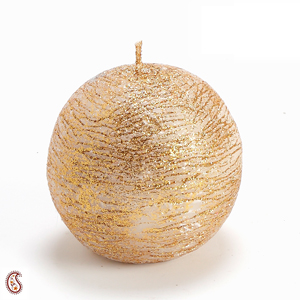 Diwali Candles-Round Ball Golden Candle