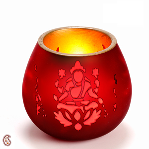 Metal Cut Work Lakshmi Tea Light Holder