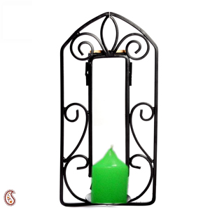 Diwali Candles-Candle with Wrought Iron Candle Stand