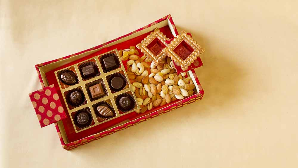 Designer chocolate & Dry fruit Hamper