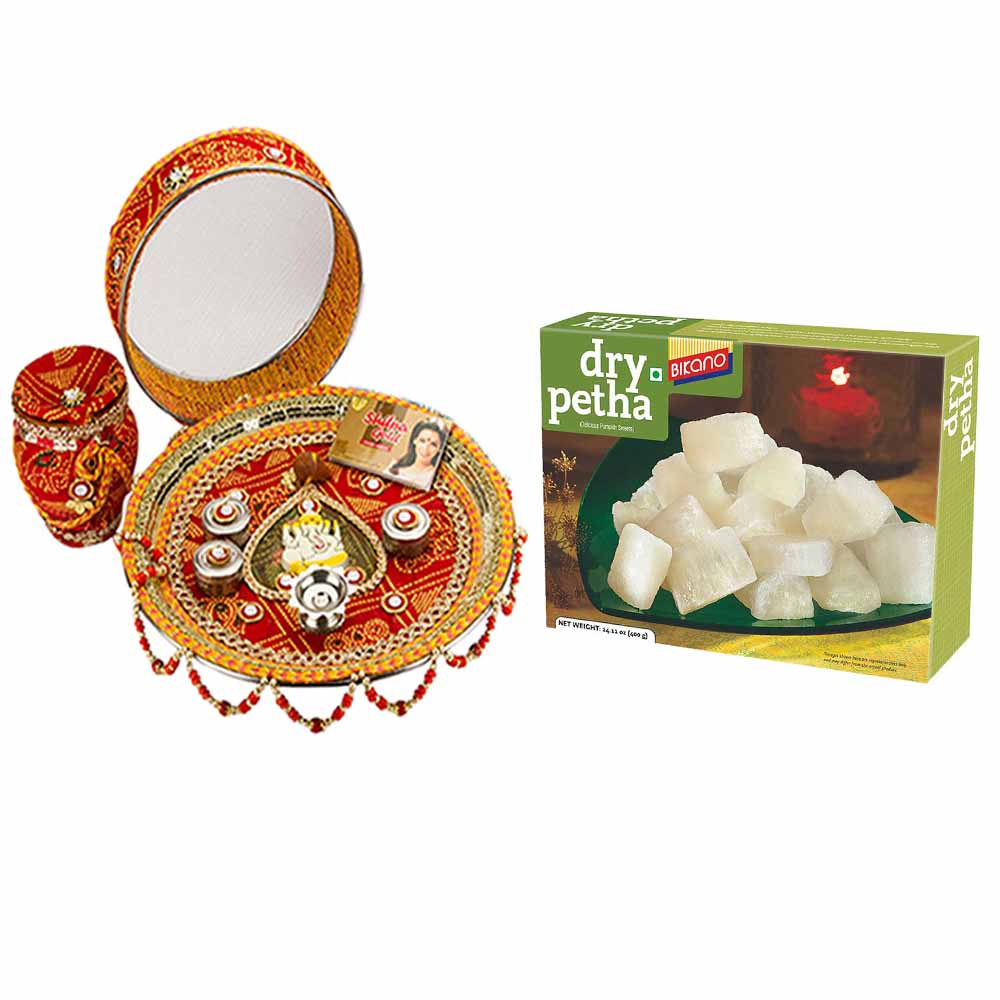 Other Diwali Gifts-Karva Chauth Thali with Bikano Dry Petha