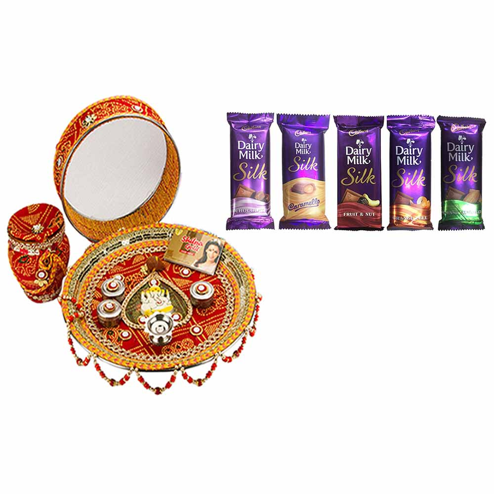 Karva Chauth Thali with Chocolates