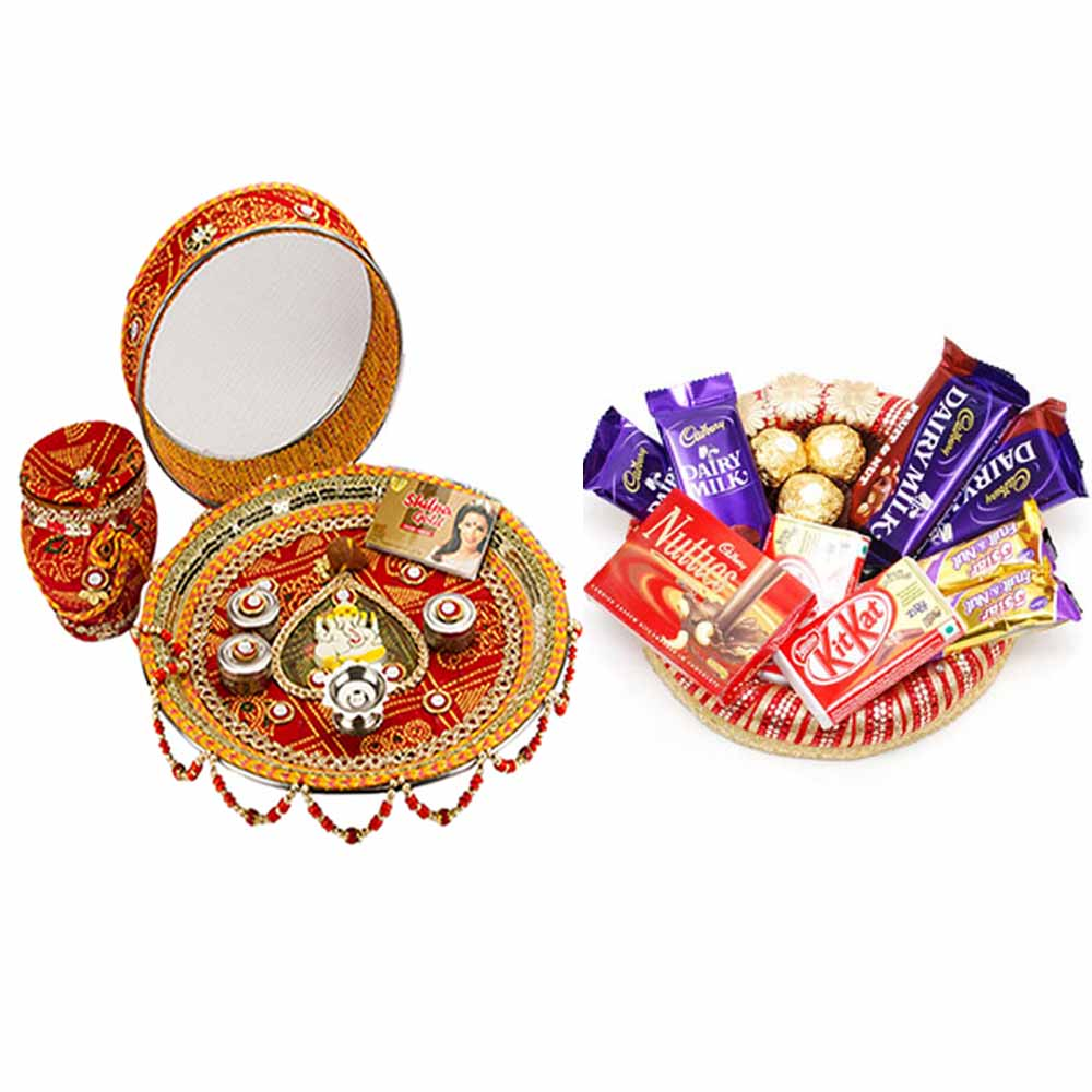 Other Diwali Gifts-Chocolaty Karva Chauth Thali