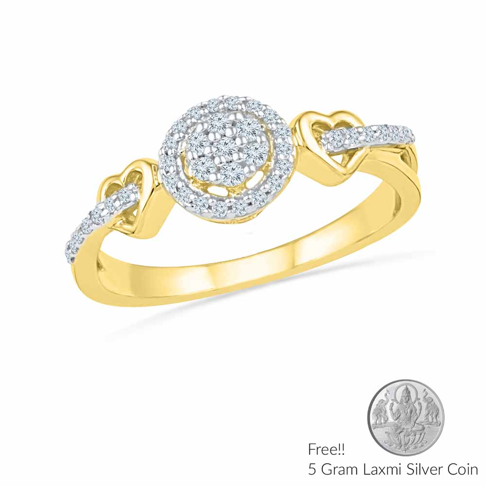 Dual Heart Diamond Ring
