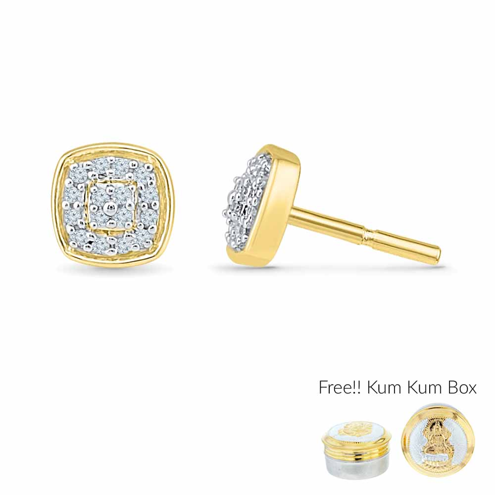 18 Kt Gold Insignia Diamond Earrings